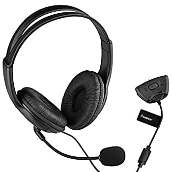 Insten Gaming Headset Headphone with Mic Compatible with Xbox 360 Wireless Controller Black