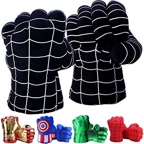 Toydaze Superhero Toys Fists for Boys, Infinity Gloves Superhero Costumes Hands, Black