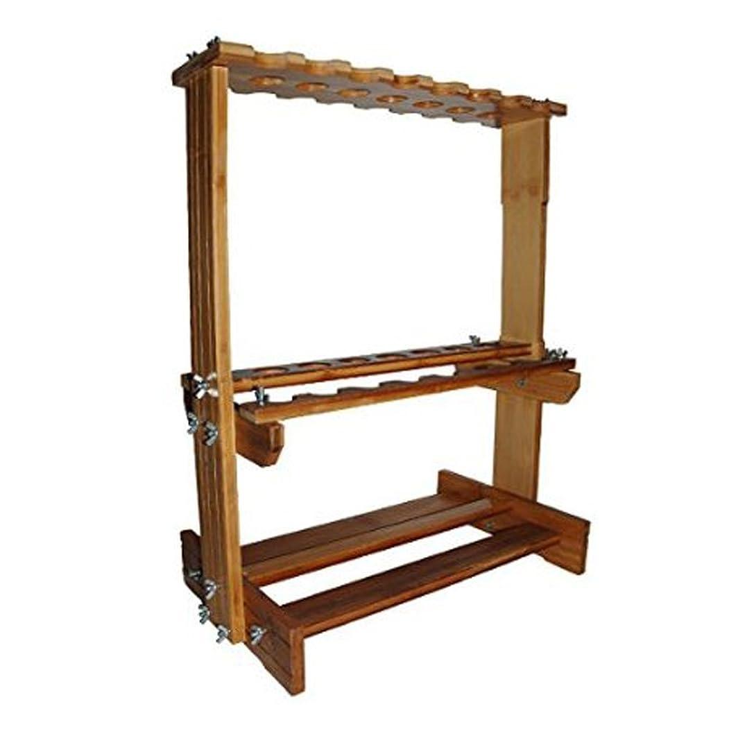 排除する豆師匠iimono117 釣竿を23本収納!釣竿スタンド 木製タイプ