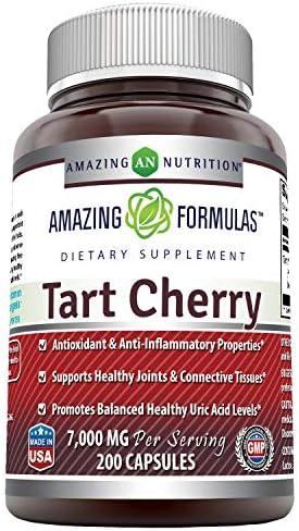 Amazing Formulas Tart Cherry Extract 7000 Mg per Serving 200 Capsules Non GMO Gluten Free Antioxidant product image