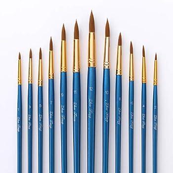 Febbya Pinceles para Pintar,12 Pack Pinceles Resistente Miniatura ...