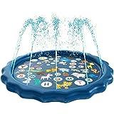 Sethruki Sprinkler Pad for Kids,68 inchSprinkle and Splash Play Mat,Outdoor Water Play Sprinklers