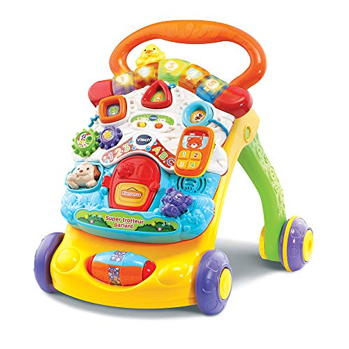 VTECH BABY- Super Trotteur Parlant 2 en 1 Orange PORTEURS, 80-505665, Multicolore