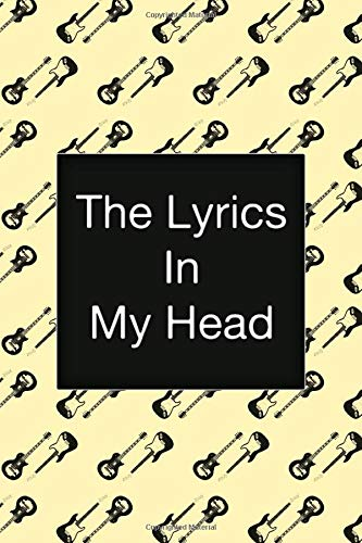 The Lyrics In My Head, Music Songwriting Notebook, Fender Stratocaster Guitar, Vintage...