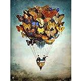 AJleil Puzzle 1000 Piezas Regalo de Cielo con Imagen de Mariposa paracaídas en Juguetes y Juegos Juego de Habilidad para Toda la Familia, Colorido Juego de ubicación.50x75cm(20x30inch)
