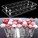 Goabroa Cake Pop Display Stand, 21 Hole Clear Acrylic Lollipop Holder Weddings Baby Shower...