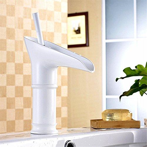 Moderne einfacheKupfer heiß und kalt Spülbecken Wasserhähne Küchenarmatur Retro Weißwein Glasform Waschbecken Waschbecken Wasserhahn warmes und kaltes Wasser Geeignet für alle Badezimmer Spülbecken