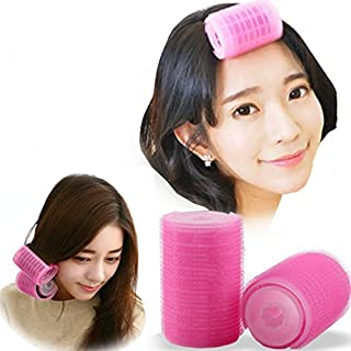 2PCS Double-Layer Bangs Hair Curlers Roller Hair Styling Tools, Pink