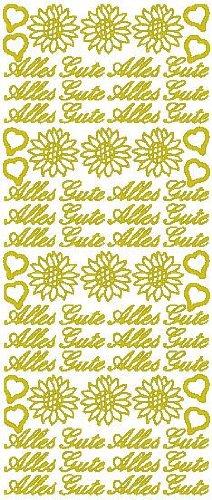 Reliefsticker 'Alles Gute', 10 x 23 cm Gold