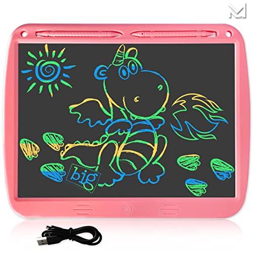 ELKeyko 15 Pollici Ricaricabile LCD. Scrittura Tablet Electronic Drawing Board Doodle Graffiti Board Board Giocattolo educativo Regalo Personalizzato for Bambini (Color : USB Colors Pink)