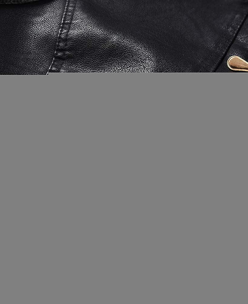 GladiolusA Damen Jacke Kunstlederjacke Biker Jacke Kunstleder Pu Damenjacke Schwarz
