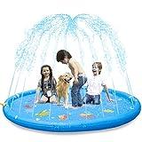 KKONES Sprinkler Pad & Splash Play Mat 68' Toddler Water Toys Fun for 3 4 5 6 Years Old Boy Girl,Kids Outdoor Party Sprinkler Toy