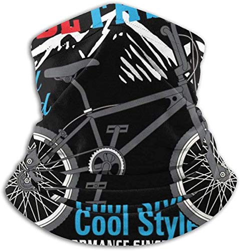 Cathycathy Fiets Cool Style Slogan Halswarmer Gamas, winddichte mond, sjaal voor mannen vrouwen zwart