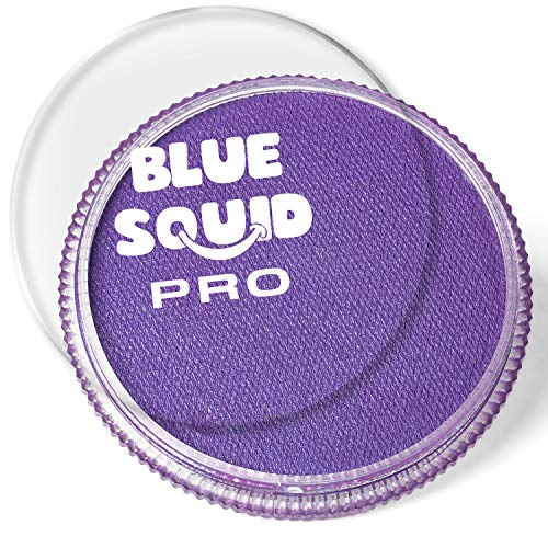 Blue Squid PRO - Pintura facial  morado clsico (30 gm), profesional a base de agua para pasteles, maquillaje facial y corporal, suministros para adultos, nios y SFX