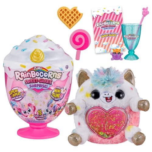 "Rainbocorns Sweet Shake Surprise - 13"" Unicorn Cuddle Plush Scented Stuffed Animal - 15 Layers of Surprises, DIY Slime Mix and More, Ages 3+"