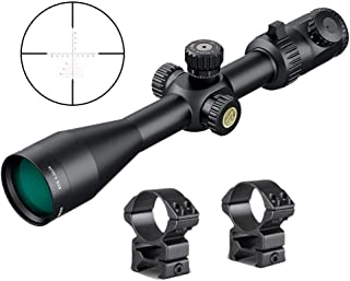 Athlon Optics , Argos BTR, Riflescope, 8-34 x 56 First Focal Plane (FFP) 30 mm Tube, Illuminated APMR MIL Reticle w/ 2 High Ring Mounts Bundle