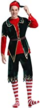 3Pcs Men's Costumes Mr Santa Costume with Belt & Hat and Striped Stockings Santa for Adult Men Cosplay Christmas Costume,R...