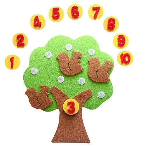 Bigsweety Filznummer Vliesstoff Stoff Kindergarten Lehrmittel Filz Kinder pädagogisch DIY handgemachtes Spielzeug DIY