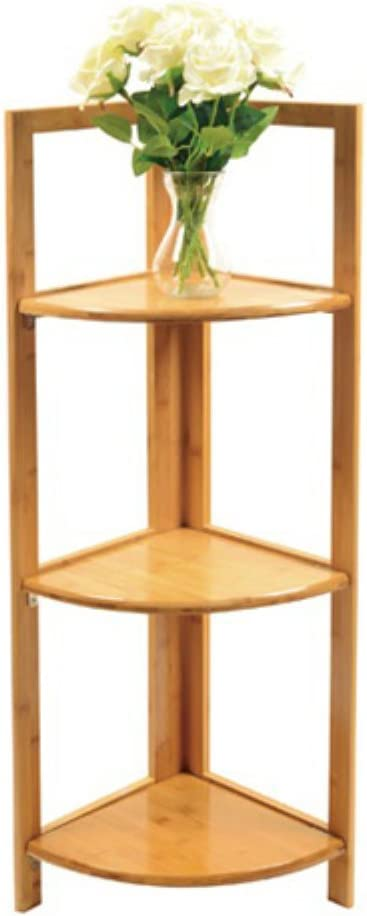 Factory outlet Timber Valley Super special price 3 Tier Natural Corner Shelf Bamboo