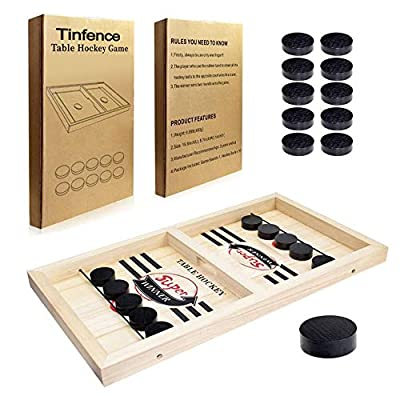 Tinfence Fast Sling Puck Game Paced, Table Desktop Battle,Winner Board Games Toys for Adults Parent-Child Interactive Chess Toy Board Table Game (15.2 in x 9.4 in)