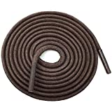 """YFINE 39.37""""Inch Round Waxed Dress Shoes Shoelaces Boots Shoe Laces Dark Brown (2 Pair)"""