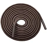 YFINE 39.37'Inch Round Waxed Dress Shoes Shoelaces Boots Shoe Laces Dark Brown (2 Pair)