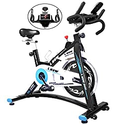 lnow indoor cycling belt drive d600 spin bike peloton app