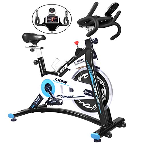 L NOW Indoor Cycling Bike Stationary Exercise Bike Quiet and Smooth with Tablet Holder (D600-1)