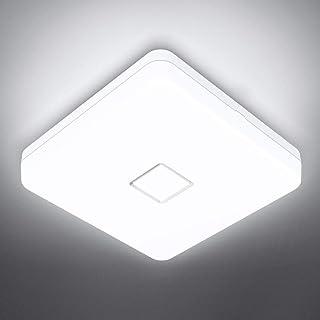 Onforu 24W Plafonnier Salle de Bains, LED Plafonnier IP54 Imperméable, 2100LM Lampe de Plafond 5000K Blanc Froid, Luminair...