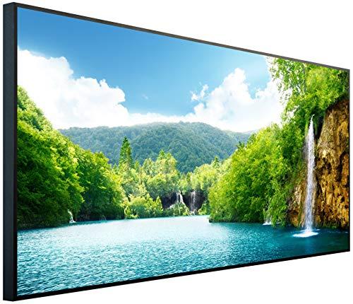 Ecowelle Infrarotheizung mit Bild | 600 Watt | 60x120x2 cm | Infrarot Heizung| | Made in Germany| d 1 Fluss und Berge