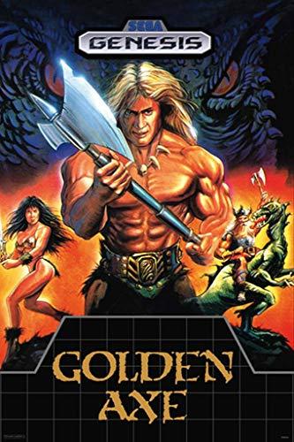 Pyramid America Golden Axe Sega Genesis Classic Video Game Cool Wall Decor Art Print Poster 24x36