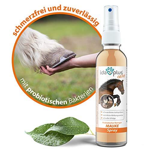 Ida Plus - Mauke Spray für Pferde 200 ml - Mauke Mittel gegen Strahlfäule & Fesselekzem - Zur einfachen & schmerzfreien Haut- & Hufpflege - schnell & zuverlässig – hautfreundlich & regenerierend