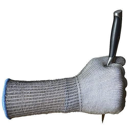 Instag Anti-Schnitt-Handschuhe Stahldraht Schnittschutz Kettensäge Schlachten Ausschnitt Metallhandschuhe Eisenhandschuhe (Einzelhandschuhe)