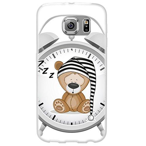 Ooh.Color 025619_ oki001Divertimento Orsetto con Motivo Morbida in Silicone Bumper TPU Custodia per Samsung Galaxy S6Trasparente