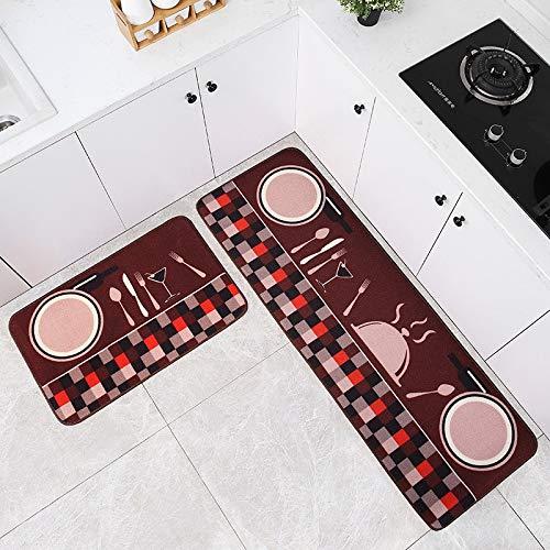 HLXX Alfombrilla de Cocina Juego de alfombras Alfombras de Cocina Alfombrilla Multiusos Dormitorio Zona de sofá Baño Alfombrilla Antideslizante A4 40x120cm