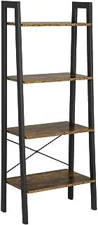 Yaheetech 4-Shelf Shelving Unit Storage Rack Bookshelf Display Rack Ladder Shelf Utility Rack Garage Shelves for Kitchen/Living Room/Entryway/Bedroom/Office, 54.1 Inches Bookcase
