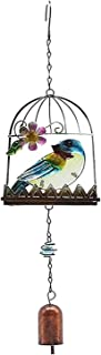 guizhoujiufu Garden Decor Weathervanes Cage Wind Chime Hanging Decoration Practical Attractive Beautiful Outside Bell Orna...