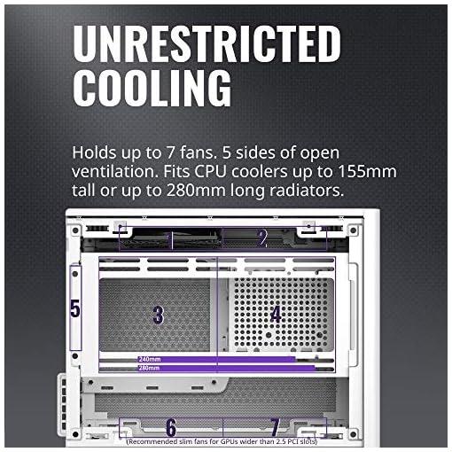Cooler Master NR200 Caja Mini-ITX de Factor de Forma pequeño SFF Blanco con Panel ventilado, GPU de Triple Ranura, sin… 3