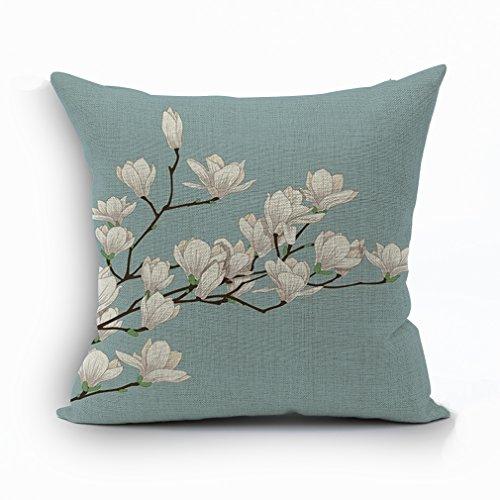 Nunubee Schöne Blumen Baumwolle Leinen Kissenbezug Warme Zuhause Dekorationen Sofakissen Kissenbezüge 45*45cm Kissenhülle, Stil 13