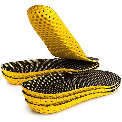 SULPO 3 Paare Einlegesohlen für frische Füße - extra Dämpfung - Schuheinlagen gegen Geruch für Walking, Trekking, Laufen - Sport Einlagen - Größe 35-46 (41-46 EU / 7-12 UK)