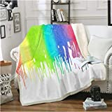 Ropa de cama Outlet Sherpa Blanket For Kid Adult Felpa Blanket Colorful Plush Throw Blanket Lavable Thin Quilt 150 * 200Cm