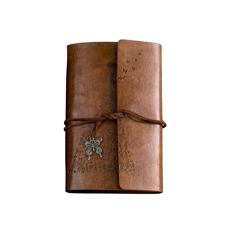 Jielongtongxun ノート - 携帯用ノート、仕事の会議の記録帳、日記、絶妙かつ簡潔、贈り物として使用することができます、色:青、茶色、サイズ:18.6 * 12.5 cm 繊細でシンプル (Color : Brown)