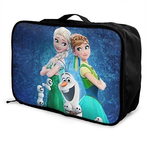 Anna Elsa Princ Travel Lage Duffel Bag Valigia leggera Borse portatili per donna Uomo Bambini Impermeabile Large Bapa Caity