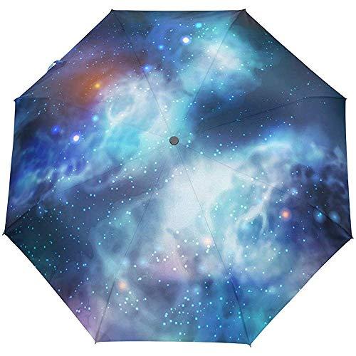 Galaxy Star Nebula STempo Universum Auto Open Umbrella Sonnenregen Regenschirm Anti UV Folding Compact Automatic Umbrella
