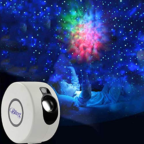 Bling Laser Projector w/LED Nebula Cloud Night Light Projector for Christmas Lights and Decorations,Birthdays,Parties and Gifts. 8 Projection Modes for Night time