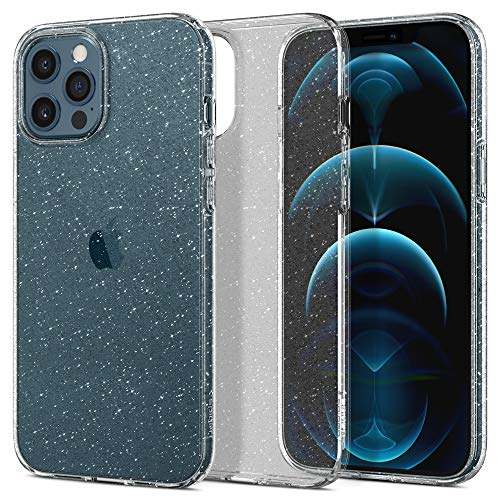Spigen Liquid Crystal Glitter Back Cover Case Designed for iPhone 12 Pro Max - Crystal Quartz
