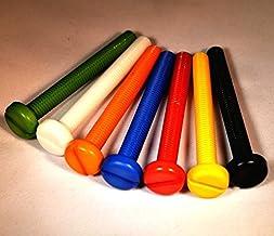 10 stuks. Nylon kwaliteit x M5 diameter x 30mm lengte. Rood Gesloten Pan Hoofd Machine Schroeven