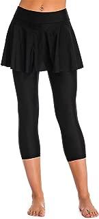 Seagoo Swim Skirt with Leggings Women UV Protection Skirted Swimming Leggings Pants