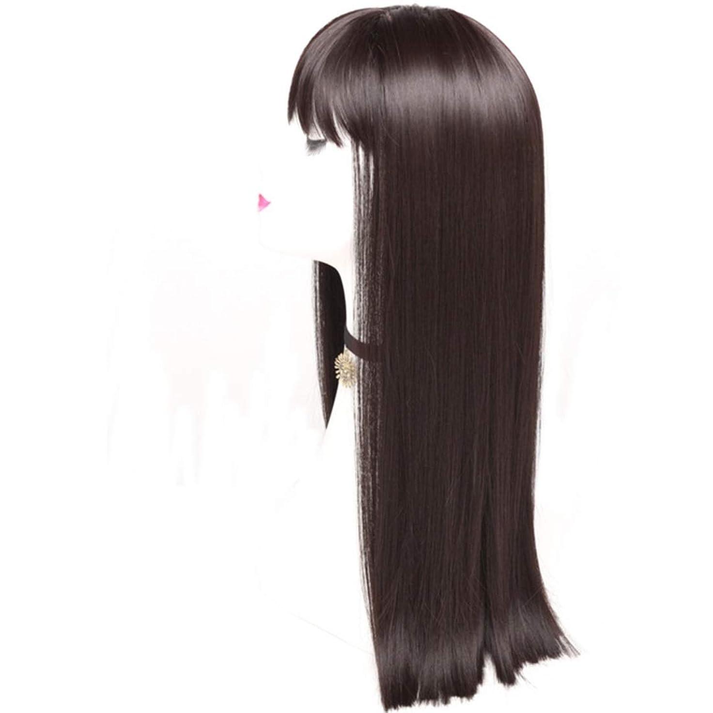 杭勝利メアリアンジョーンズKerwinner レディースかつら魅力的な合成かつらで長いストレートの髪をかつら