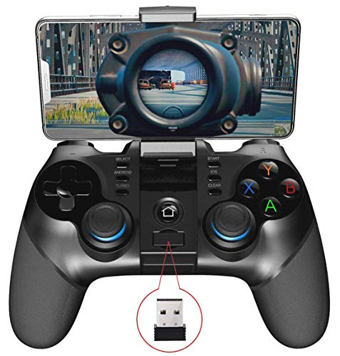 IPEGA PG-9156 Wireless4.0+2.4G Wireless Gamepad Trigger Pubg Controller Mobile Joystick Compatible Phone8/XR/XS iOS Compatible Android Mobile Phone Tablet
